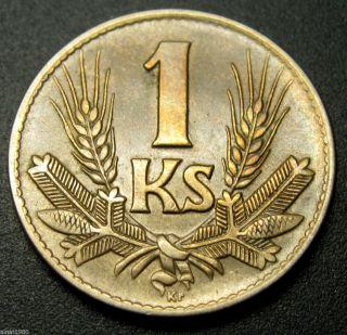Slovakia 1 Koruna Coin 1942 Km 6 (a1) photo