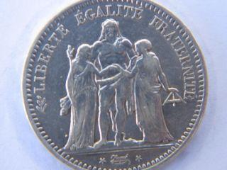 1849 France 5 Franc Silver photo