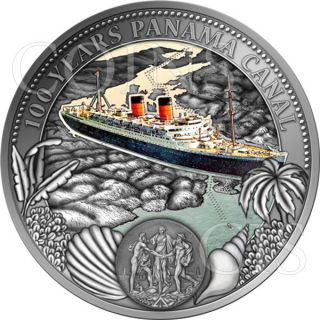 Niue 2014 2$ 1914 - 2014 The Panama Canal Turns 100 50g Proof - Like Silver Coin photo