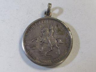 1969 Ic Proof Haiti 10 Gourdes - In Bezel -.  999 Silver photo