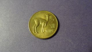 Peru 1972,  Half Sol.  Great Coin For All The Llama Lovers photo