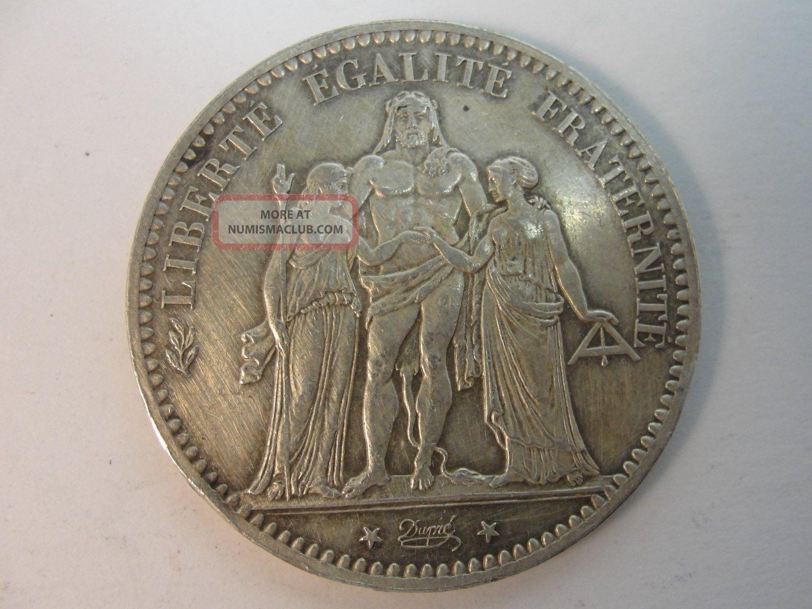 1876 A France 5 Francs Silver Coin Quot Hercules