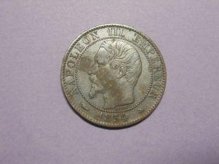 France - 5 Centimes - 1854bb photo
