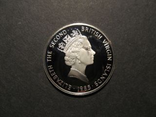 1985 British Virgin Islands $20 Sterling Silver Coin Proof