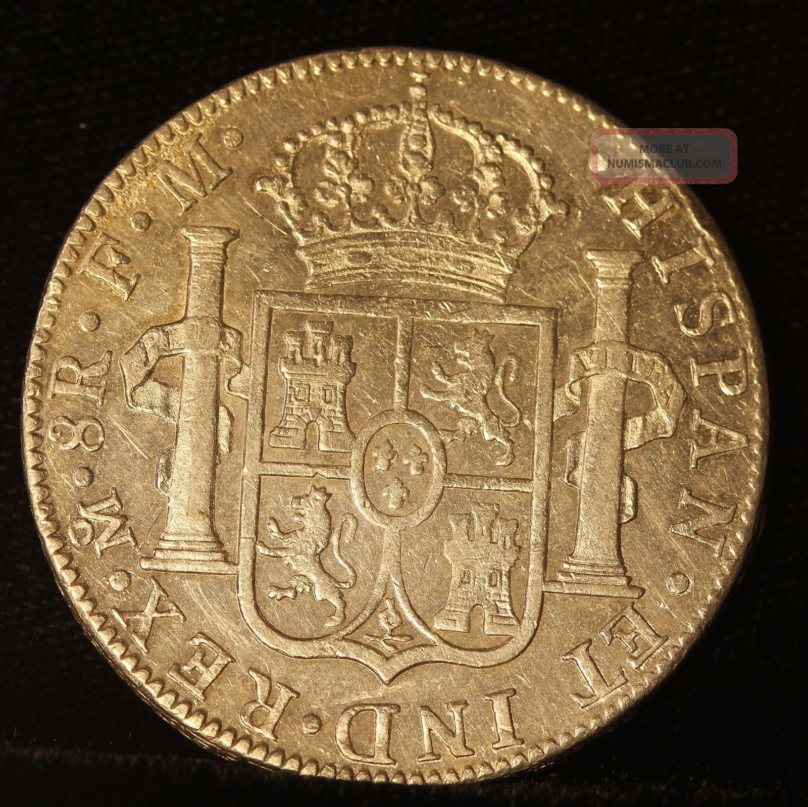 Spanish Colonial Silver 8 Reales 1790 Charles Iv Almost