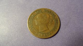 Canada 1859,  One Cent.  Awesome Antique Coin.  You Decide The Variety. photo