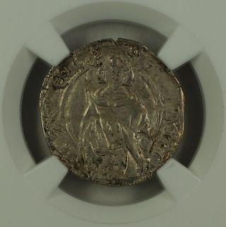 1355 - 75 France Hardi D ' Argent Silver Coin Roberts - 6833 Edward Ngc Au - 53 Akr photo