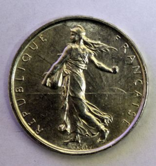 1963 France 5 Francs Silver Coin photo