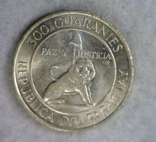 Paraguay 300 Guaranies 1968 - 1973 Bu Silver Coin (stock 1542) photo