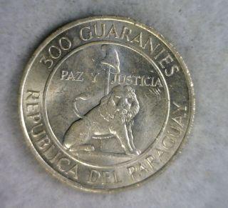 Paraguay 300 Guaranies 1968 - 1973 Bu Silver Coin (stock 1542) photo