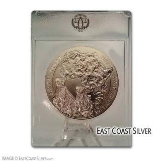 2013 Rwanda African Cheetah - 1 Oz.  999 Fine Silver Coin At photo