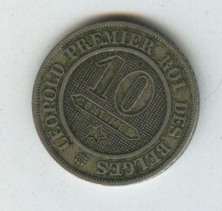 Belgium 10 Centimes 1861 photo