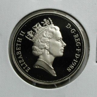 Uk (great Britain) 1988 Ten Pence Proof (10p) Queen Elizabeth Ii Coin Bu Unc photo