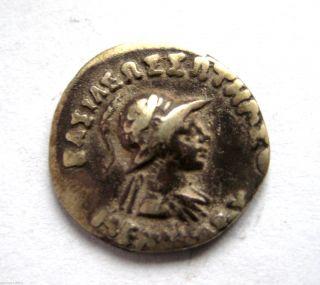 C.  160 - 145 B.  C Ancient Greece - Indo Greek Menander I Ar Silver Drachma Coin photo