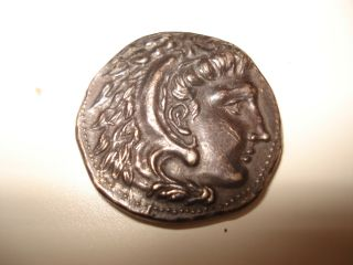 Ancient Greek Coin / Old Made / Alexander The Great photo