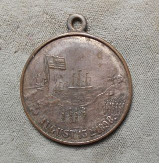 Military Shellcard: Capture Of Manila By Us Army & Navy Viva America Aug 13 1898 photo