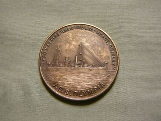 U.  S.  S Olympia Ship Token From Actual Ship Parts - 1898 Spanish American War photo