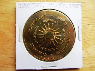 Redding California 1987 100th Anniversary Fine Bronze Medal Token photo