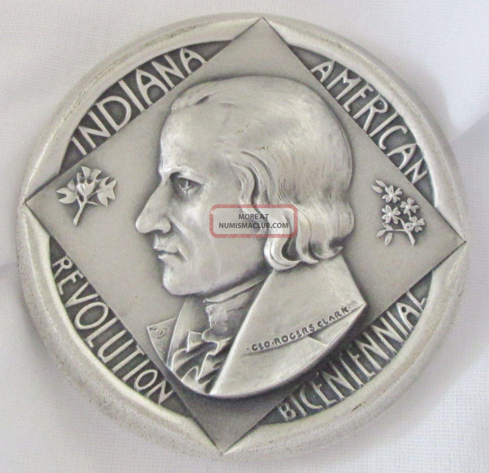 Indiana American Revolution Bicentennial 999 Silver Medal