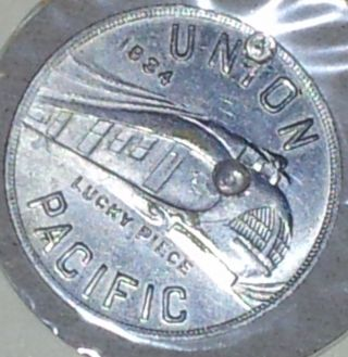 1934 Union Pacific Railroad Aluminum Company Of America Token Alcoa photo