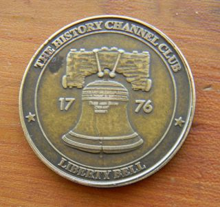 The History Channel Club 1776 Liberty Bell 34mm Bronze? Token Coin Medallion photo