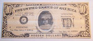 Sally Kirka Image On 10 Wooden Dollars / Tec Meeting Ana / Miami,  Fl - 1974 photo
