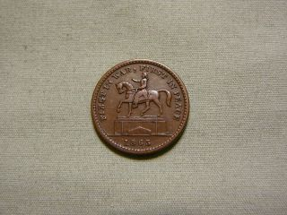 Patriotic 1863 Civil War Token - First In War,  First In Peace / Union For Ever photo