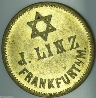 Antique Old German Beer Token 1900 - 1918,  Extrem Rare,  Jewish,  Josef Linz photo