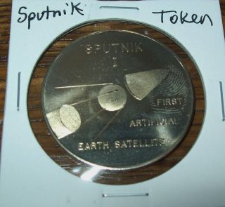 Vintage Sputnik I Earth Satellite Token Space Program photo