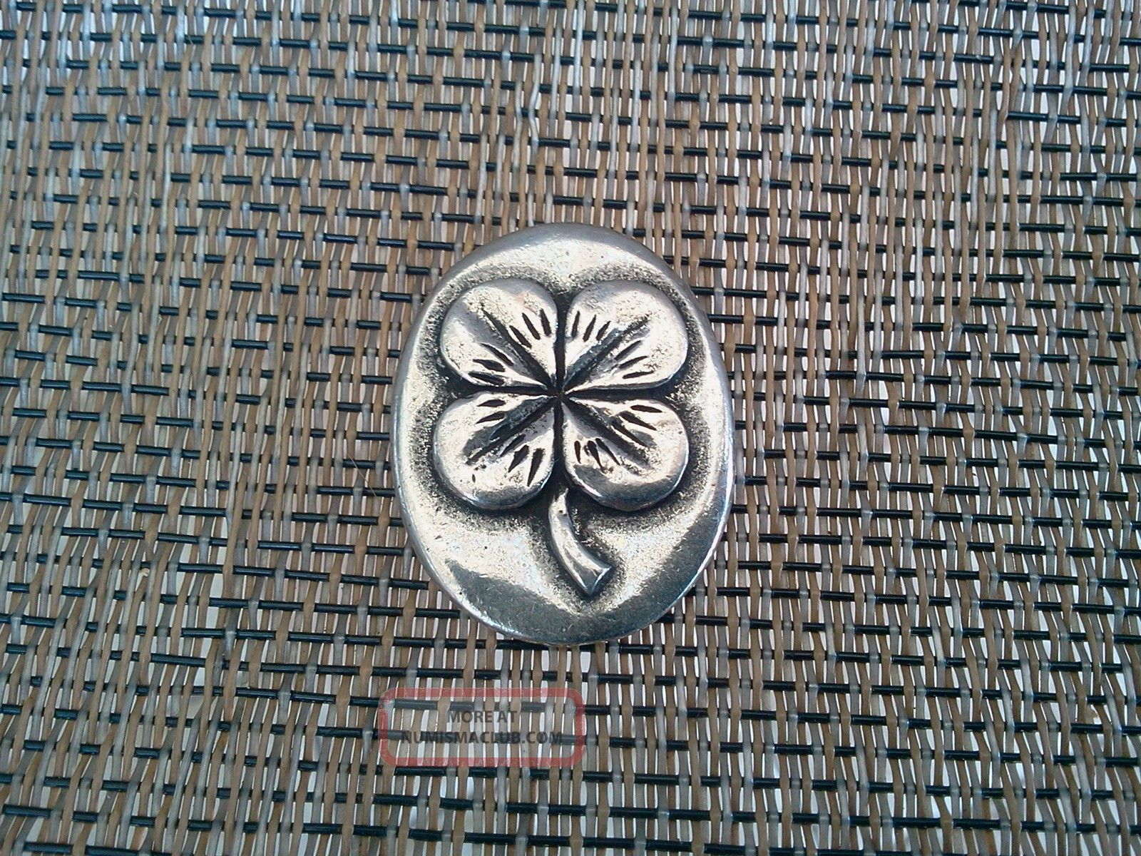 Your Lucky Four Leaf Clover Good Luck Pocket Coin Piece Pewter All Exonumia photo