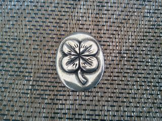 Your Lucky Four Leaf Clover Good Luck Pocket Coin Piece Pewter All photo