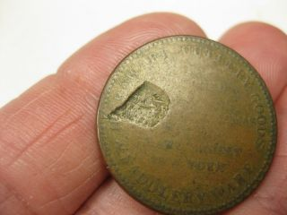 Error Coin Rare 1850 ' S Ny Leverette & Thomas Saddlery Ware,  Anvils,  Saws,  50 photo