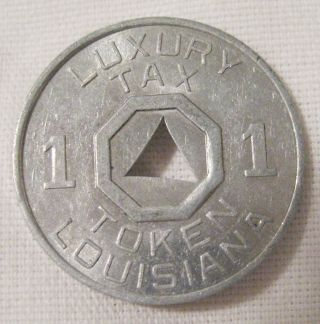 Vintage 1920s - 1940s Louisiana Luxury Tax Token Coin photo