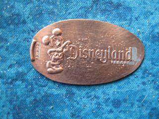 Mickey Mouse Disneyland Disney Elongated Penny Pressed Smashed 11 photo