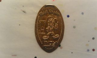 Elongated Penny Disney - Mk0162z - Indy Speedway Winner Mickey With Thumb Up photo