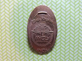 Elongated Penny Disney - Mk0163d - Tomorrowland Indy Speedway Logo photo