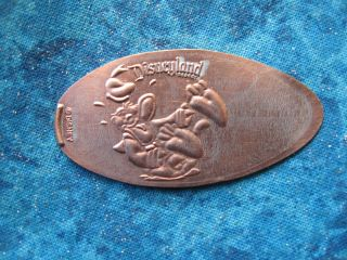 Donald Duck Laughing Disneyland Disney Elongated Penny Pressed Smashed 10 photo