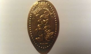 Elongated Penny Disney - Mk0107z - Pirate Mickey Mouse Foot On Treasure Chest photo