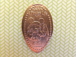 Elongated Penny Disney - Mk0108c - Pirate Mickey Mouse With Parrot On Arm Yo Ho photo
