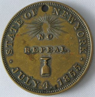 State Of York - No Repeal Token July 4,  1855 photo