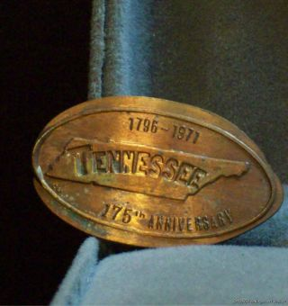 Elongated 1971 Penny Tennessee 175th Anniversary 1796 - 1971 photo
