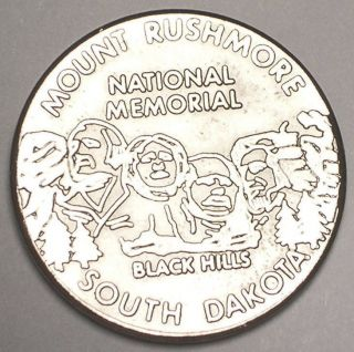 Vintage Mt.  Rushmore Wall Drug Black Hills South Dakota Souvenir Token Vf, photo