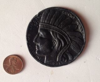 ' 35 California Pacific International Expo Indian Head Lucky Penny Sandiego Token photo