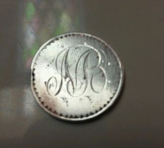 Newfoundland Silver 25 Cent Love Token photo