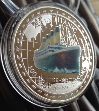 R.  M.  S Titanic Coin Finished In 999.  1oz Collectors Token Capsule Silver ✅ photo