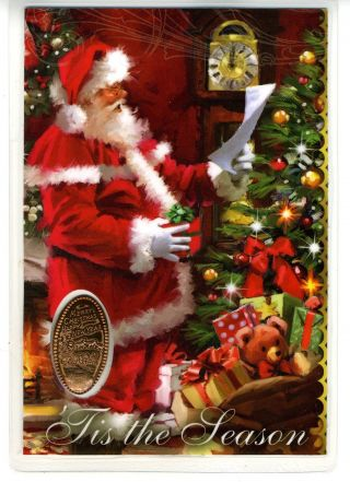 Christmas Laminated Card With Elongated Coin photo