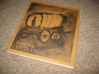 Vintage 1874 - 1974 Baker City Oregon Centennial Album & Token Souvenir History photo