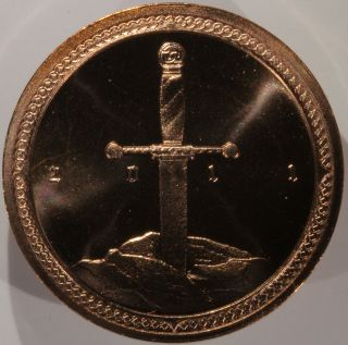 Knights Of The Coin Table Medal 2011–proof Finish Copper Daniel Carr Mintage 61 photo