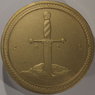 Knights Of The Coin Table Medal 2011–matte Finish Brass,  Daniel Carr Mintage 113 photo