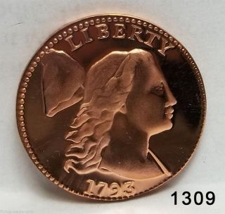 Gallery Museum 1793 Proof Liberty Cap Cent Copper Token (1309) photo